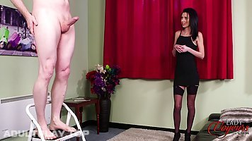 Ella Rose is watching her partner rubbing his dick, because it excites both of them, a lot